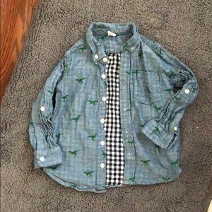 Gap button down Dino boys shirt size 4T